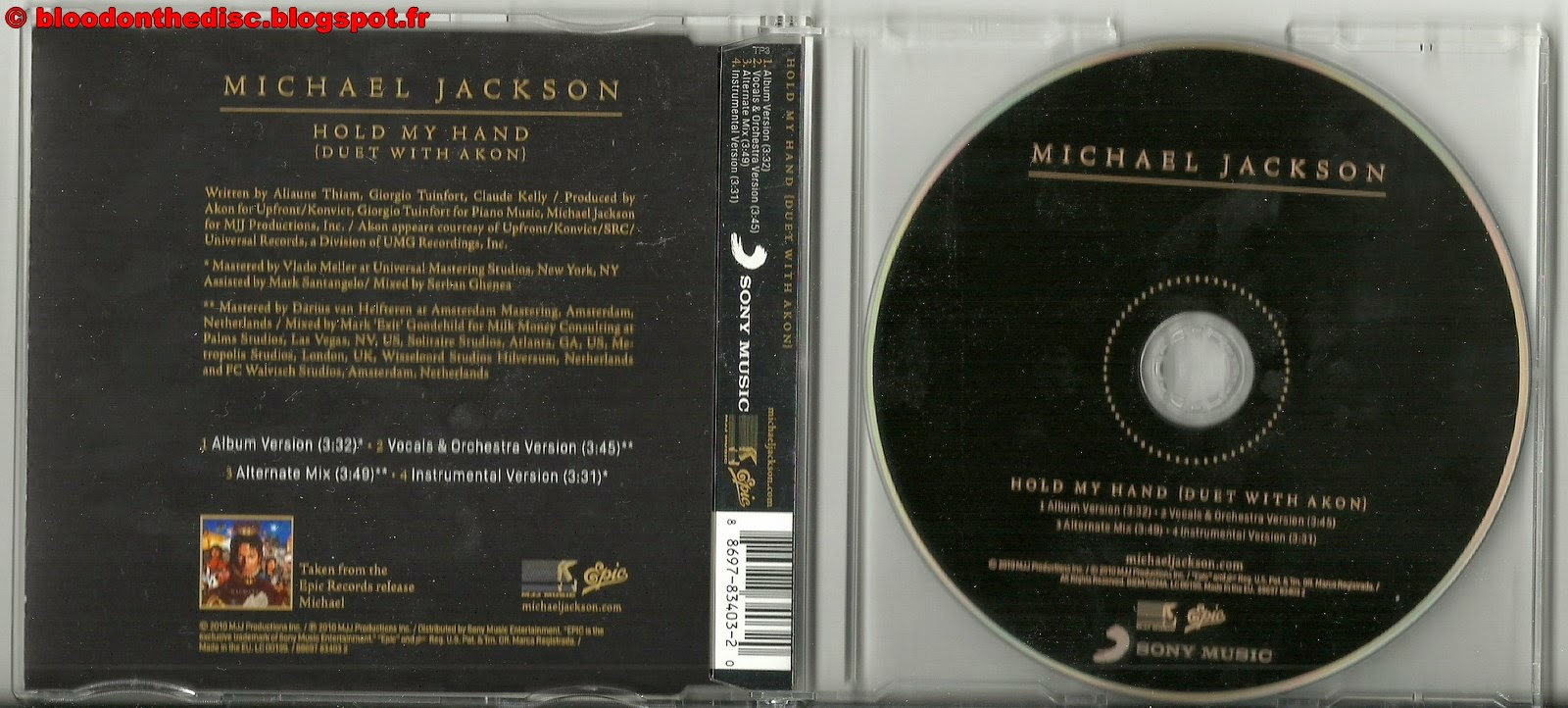 Hold My Hand CD