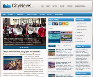 CityNews blogger template