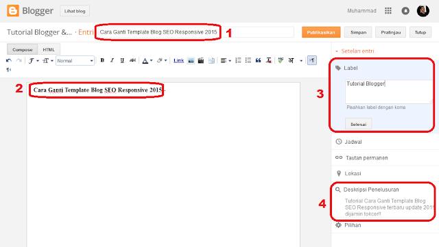 cara menampilkan profil penulis blog di bawah postingan