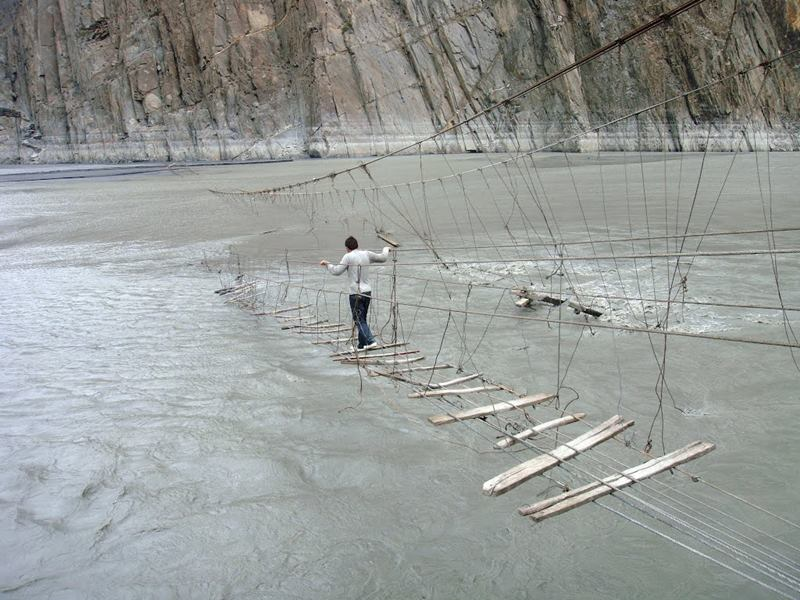 Hanging bridge of pakistan