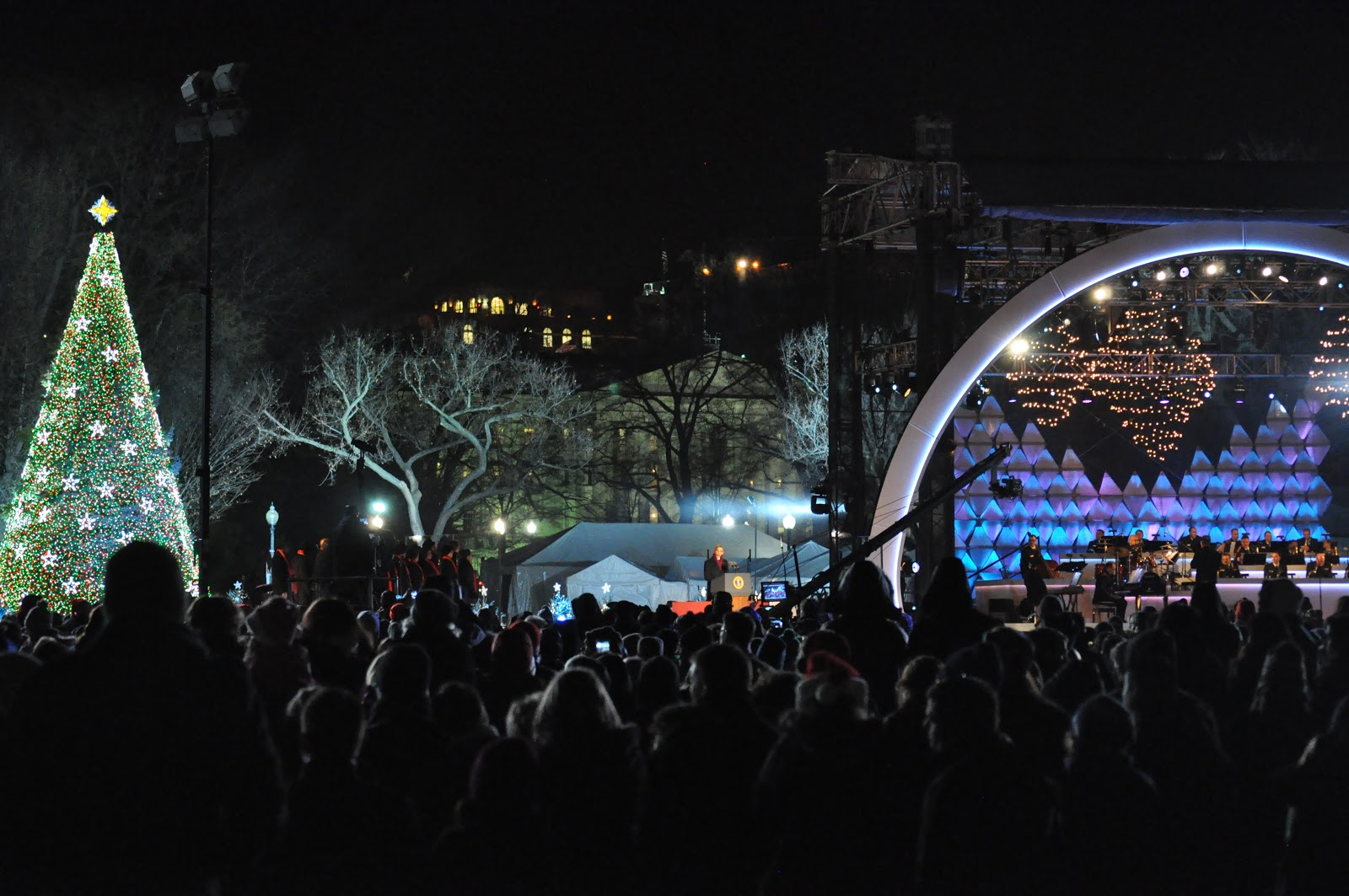attending the 90th lighting of the national christmas tree at presidents park next to the white house not to be confused with the capitol christmas - White House Christmas Tree Lighting