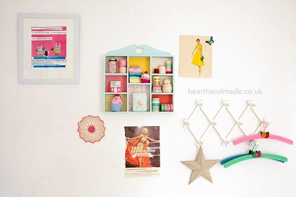 craft room creative wall