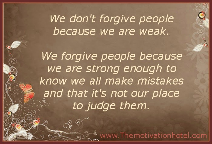 Captivating Forgiveness Is Not Weakness.