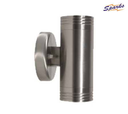 Satin Chrome 2 Spotlights Cylinder for Outdoors