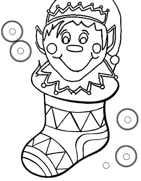 Christmas Stocking Coloring Book
