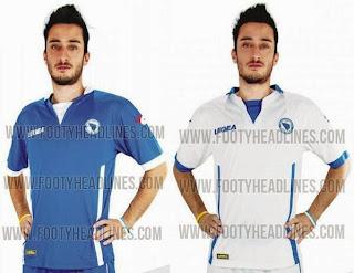 Le maillot de la Bosnie-Herzégovine de la Coupe du monde 2014