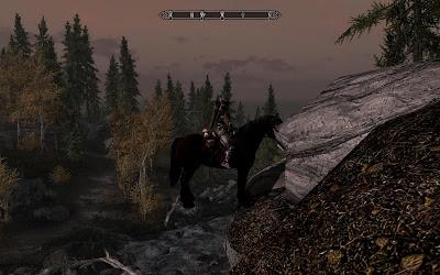 глюк лошади из игры Скайрим Skyrim