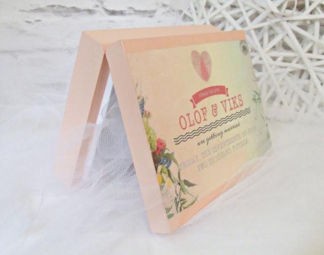 Pudełko skrzyneczka na obraczki w pastelach i stylu boho. Wedding ring box Eco Manufaktura.