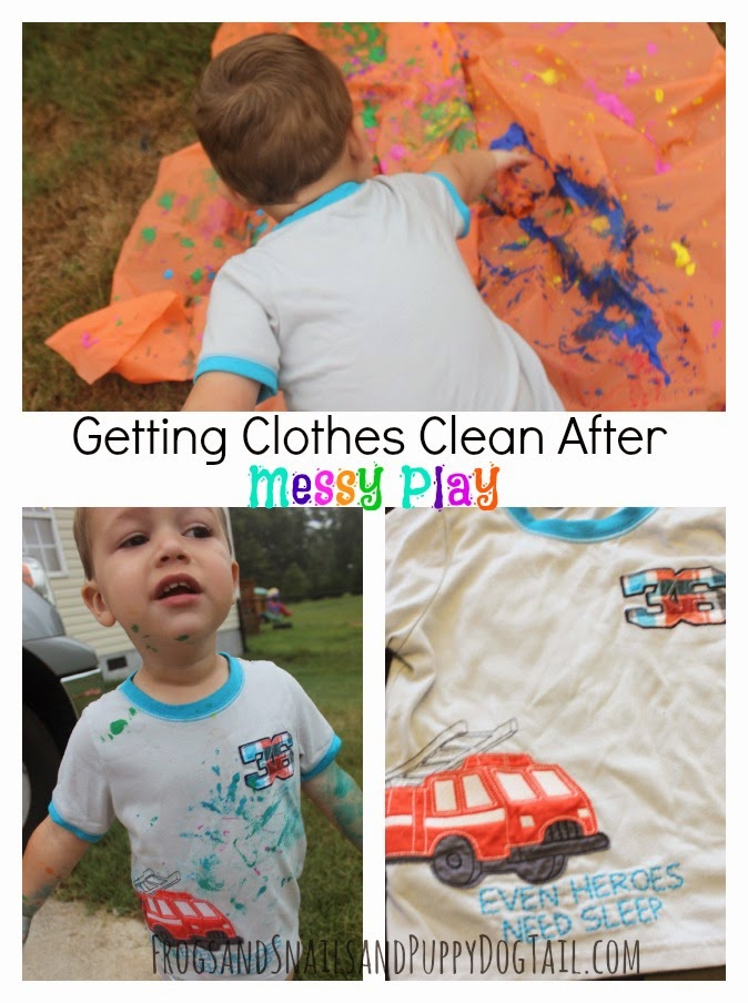 #BizChallenge  Getting Clothes Clean After Messy Play and Eating
