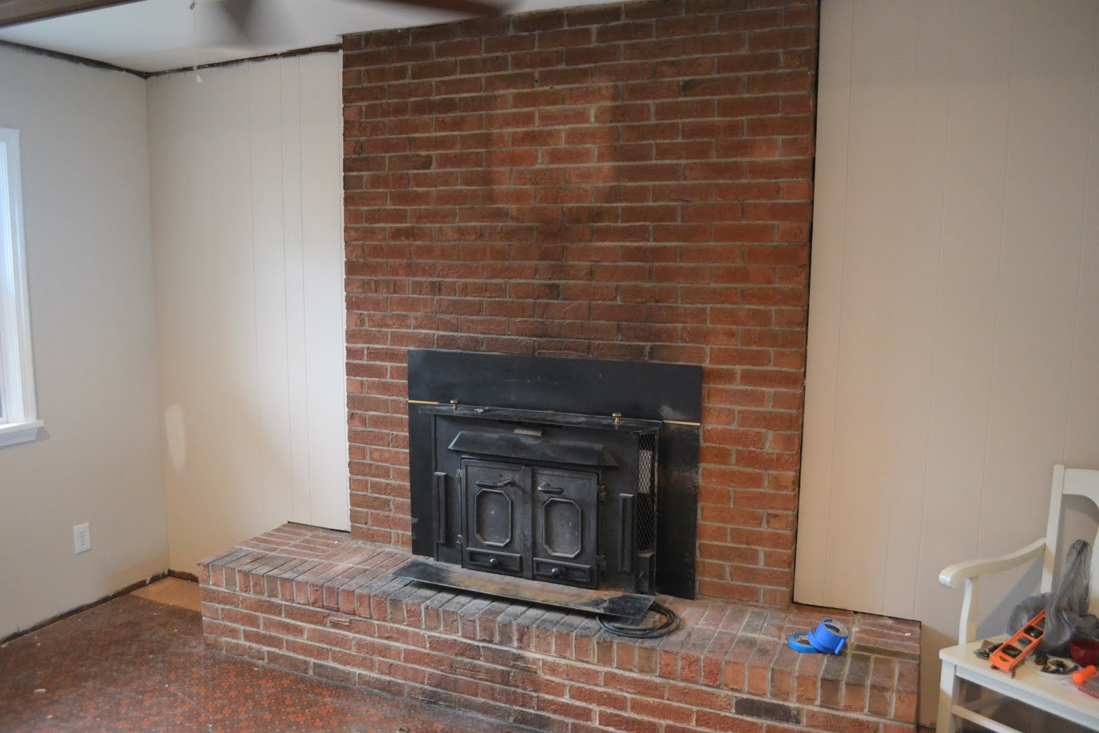 the hill house painted fireplace how to