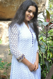 Yamini (Telugu Serial Actress) Pictures in White Salwar Kameez at Annapurna Studios Serials Press Meet  0010.jpg