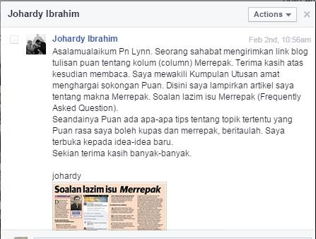 merrepak, maksud merrepak, Johardy Ibrahim, tulisan pojok, lynn munir merrepak,istilah sarawak,membebel,merepek,ulasan, balasan
