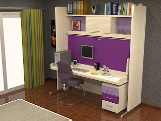 cama plegable con mesa de estudio