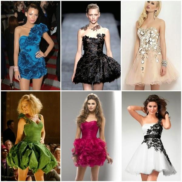 ideias de vestidos de formatura curtos