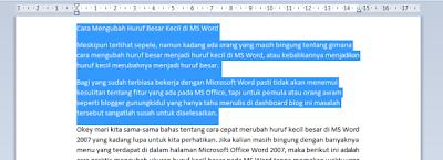 Cara Mengubah Huruf Besar Kecil di MS Word