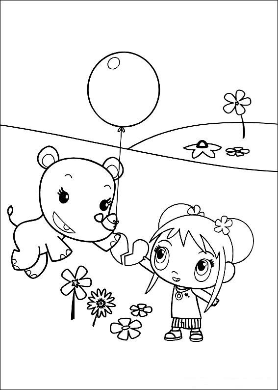 Ni Hao Kai Lan Coloring Pages title=