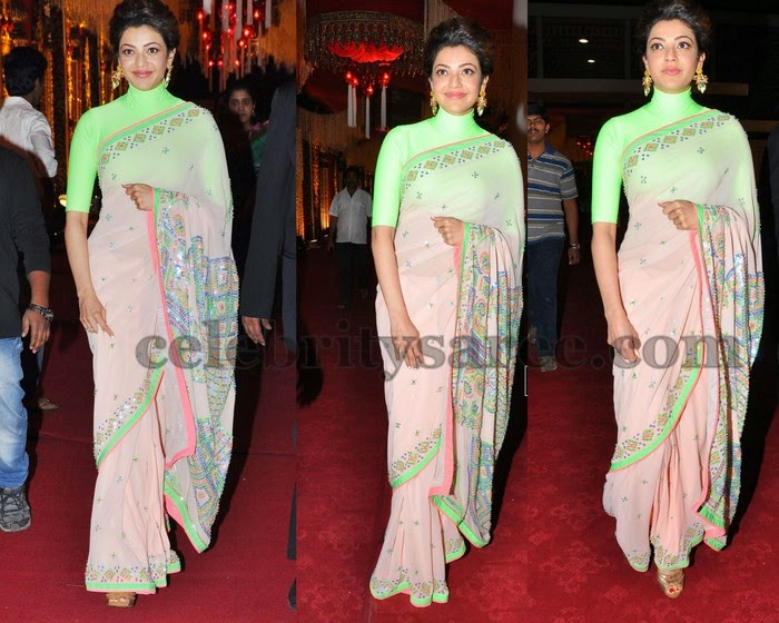 Kajal at Rajiv Reddy Wedding Recepton