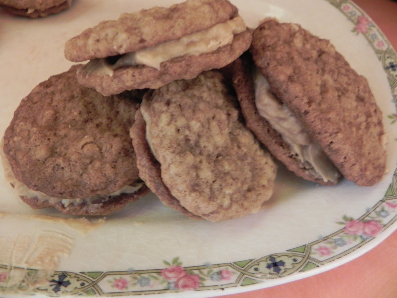 ... at Susie's: Oatmeal sandwich cookies with creamy peanut butter filling