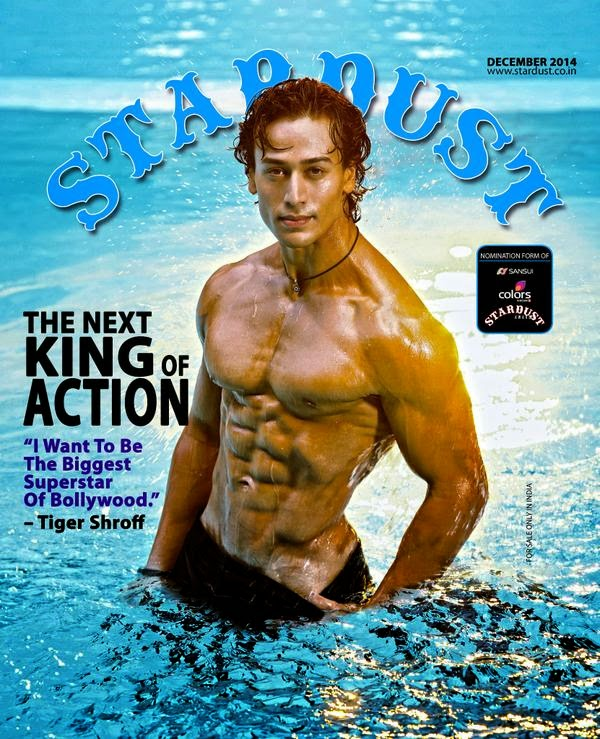 Tiger Shroff Features on The Cover of Stardust Magazine December 2014 Issue