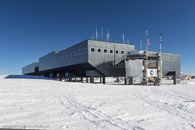 La estación antártica Amudsen-Scott vista por dentro