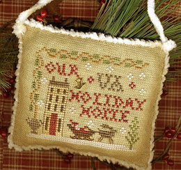 "Annual Sampler Ornament - ""Your State Holiday Home"" - $8.50 - Includes the Brass ""Bird"" Charm"