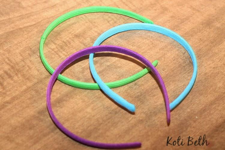 How to make custom headbands with washi tape.