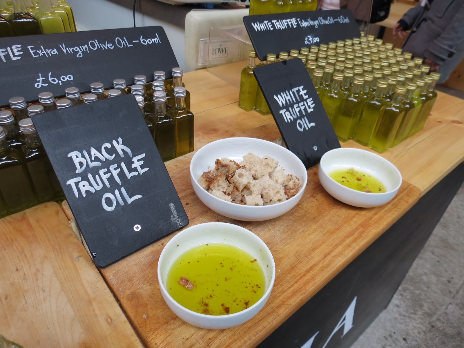 Borough market london truffle oil
