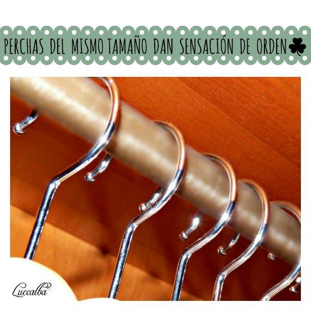 Luccalba trucos para mantener en orden el armario - Perchas ahorra espacio ...
