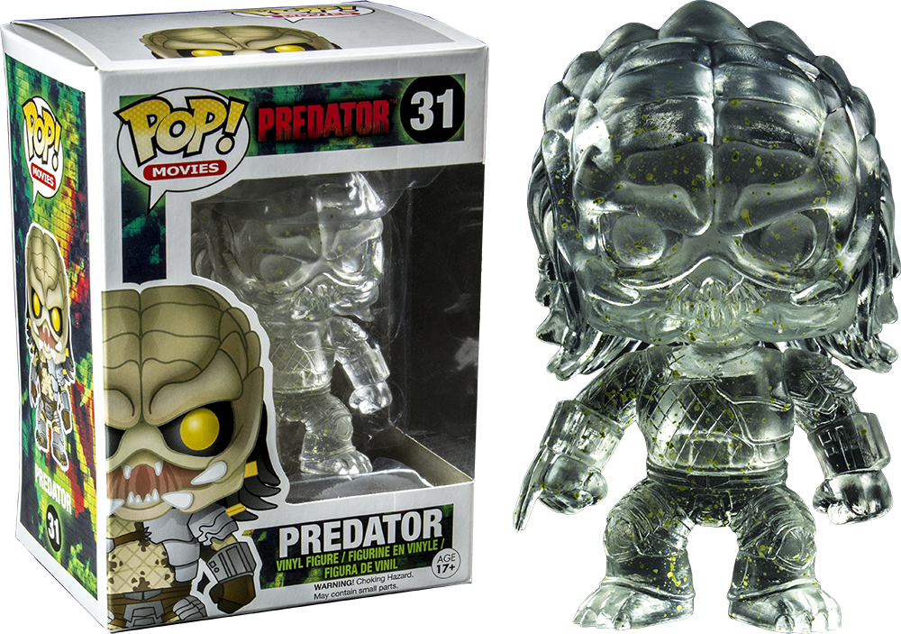 PREDATOR - CLOAKED PREDATOR WITH GREEN ALIEN BLOOD SPLATTER POP! VINYL FIGURE