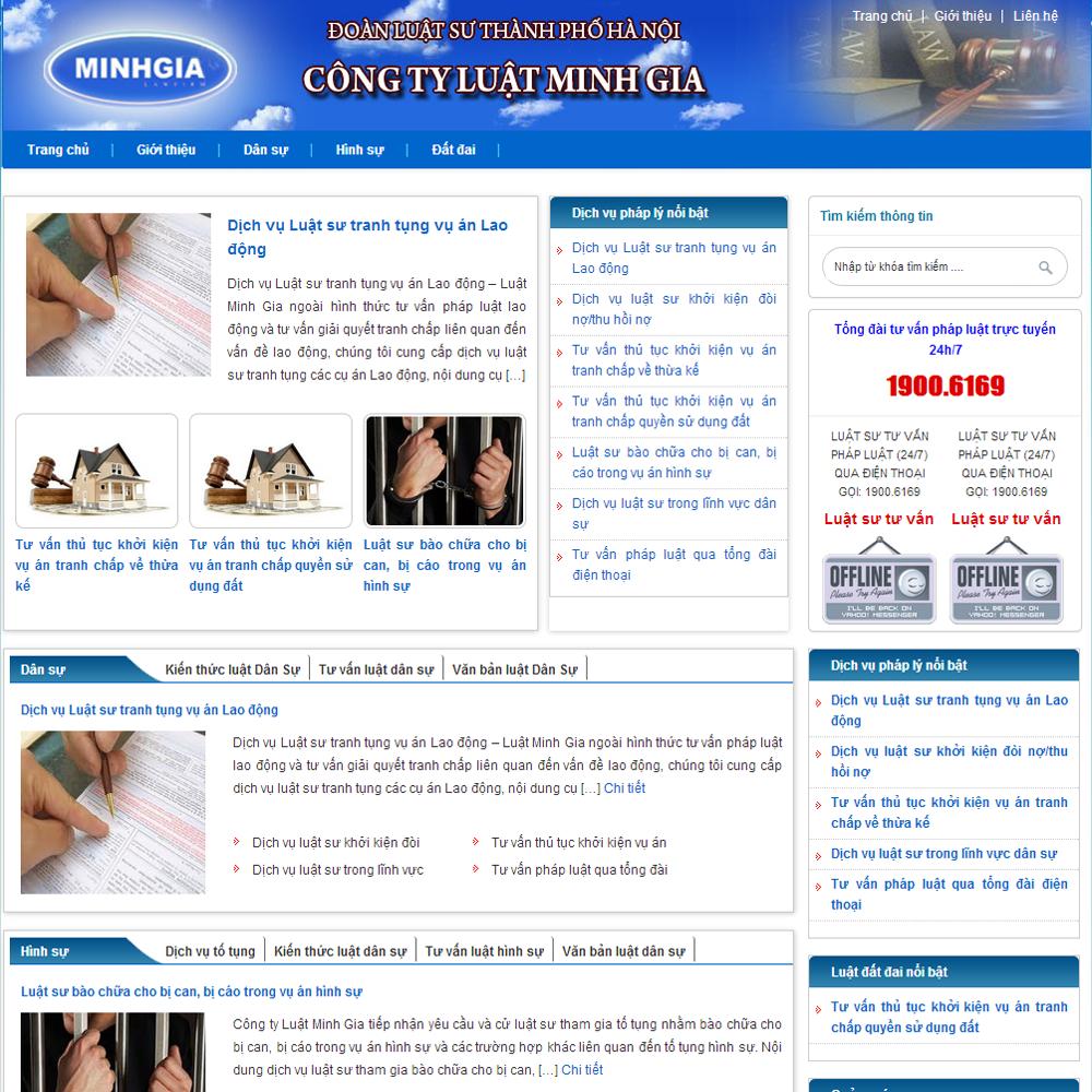 Thiết kế website bằng wordpress hướng dẫn quản trị website luatuuviet.com