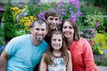 Gresham Family: Jay, JT, Claira, Melissa