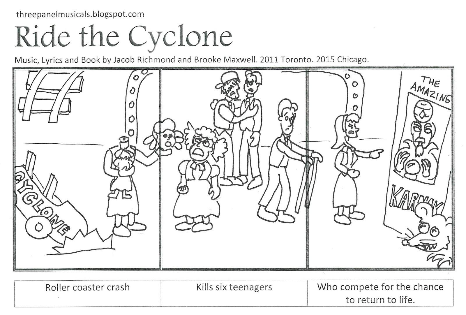 three panel musicals  ride the cyclone