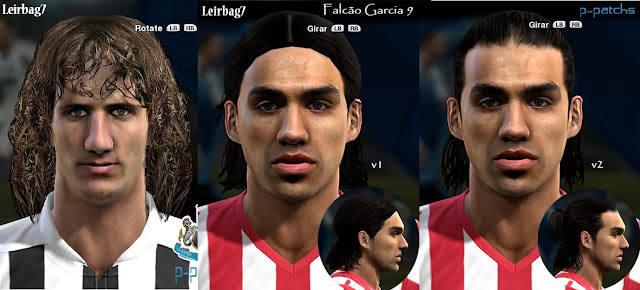 Fabricio Coloccini e Falcao García Faces - PES 2013