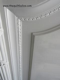 Painted black headboard white