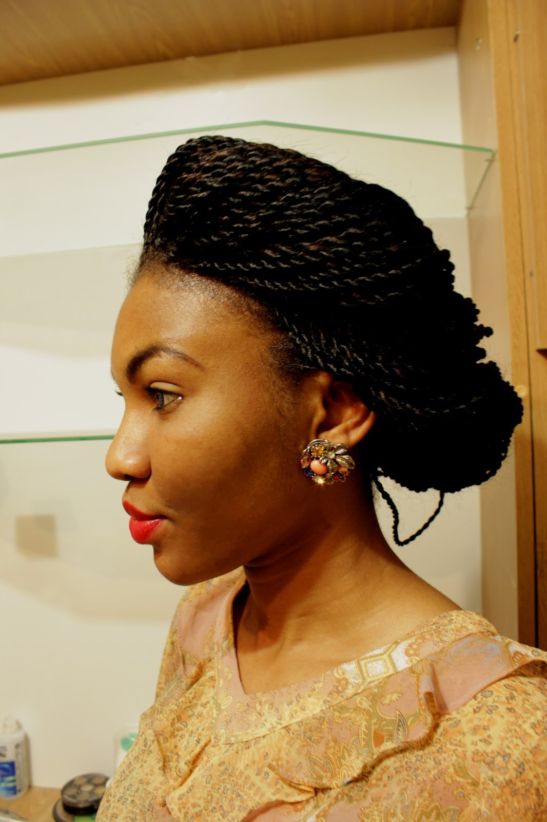 Nigerian fashion blogger modavracha in retro styled  braids