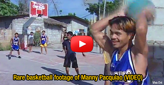 Rare basketball footage of Manny Pacquiao (VIDEO) MUST SEE!