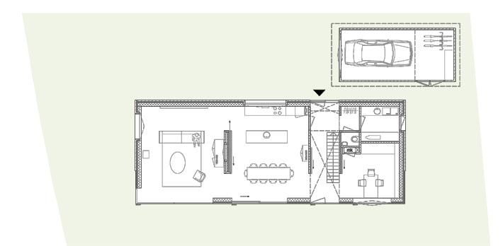 Onze duurzame schuurwoning in de wijk ontwerp de for Ontwerp plattegrond