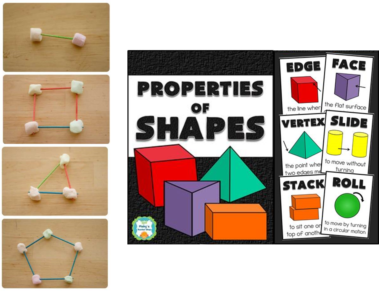 http://www.teacherspayteachers.com/Product/Properties-of-Shapes-Posters-Face-Edge-Vertex-Slide-Stack-Roll-1061209