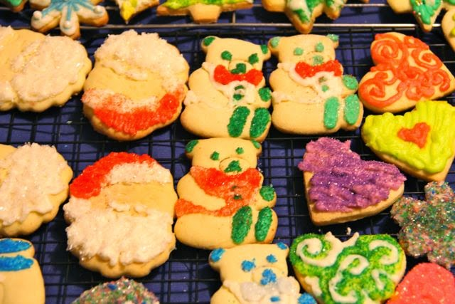 artisanal Christmas cookies, made by hand, eaten by mouth