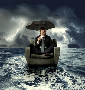 Dating Success And The Victim Mentality..man holding umbrella