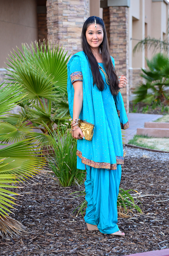 indian wedding turquoise outfit