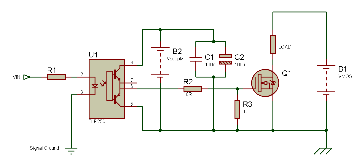 Tahmids Blog Using The Tlp250 Isolated Mosfet Driver Explanation