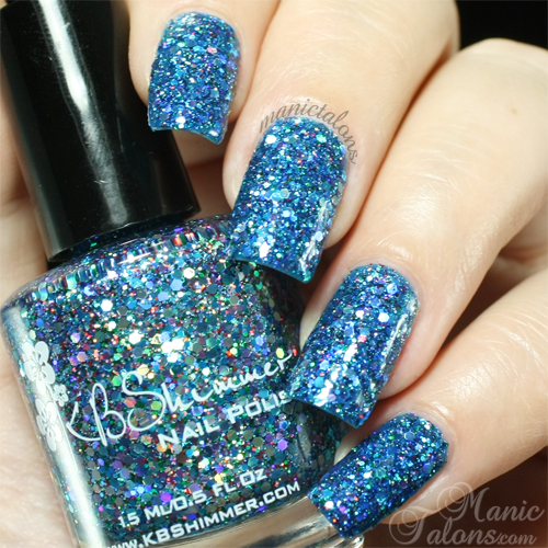 KBShimmer Too Cold To Hold Swatch with Top Coat