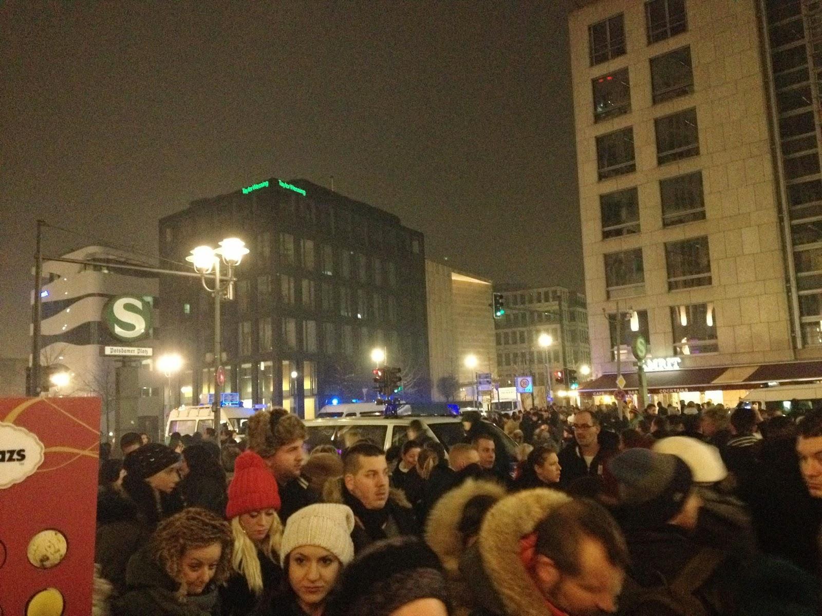 Suasana Tahun Baru di Postdamer Platz, Berlin
