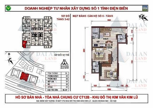 Căn 06 - Tòa CT12B Chung Cư Kim Văn Kim Lũ