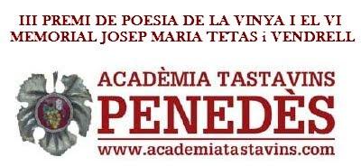 III Premi de Poesia de la Vinya i el Vi