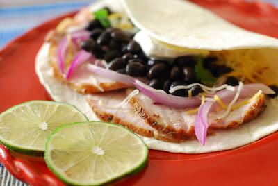 Mexican rotisserie pork loin tacos