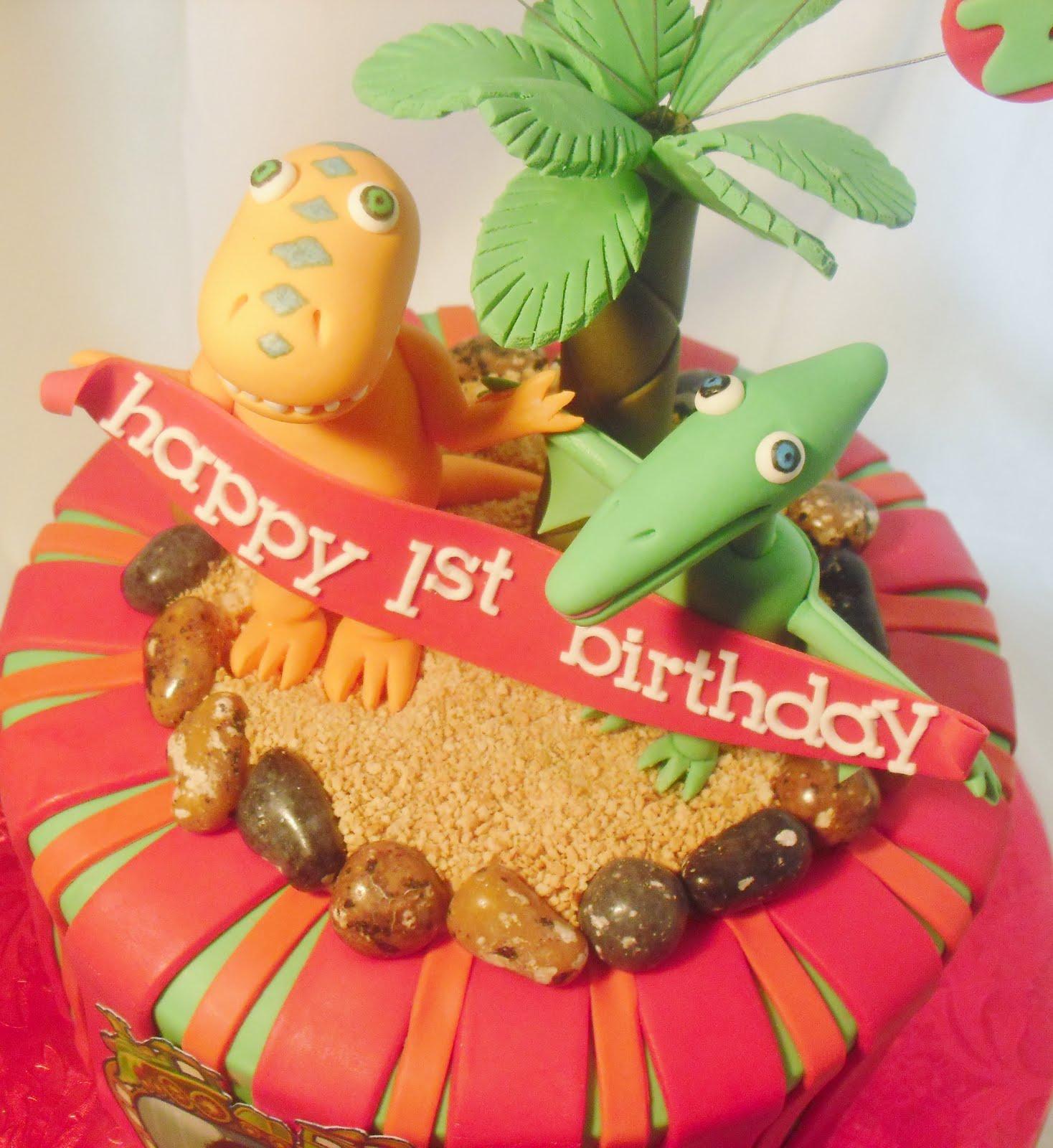 made fresh daily dinosaur train cake