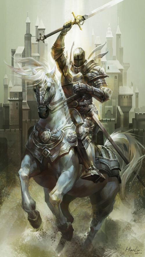Lu Hua illustrations concept arts fantasy games White knight