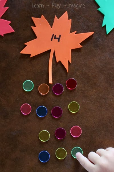 Fall math games for preschool